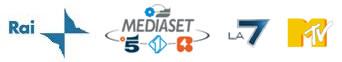 Rai Mediaset La7 Mtv Logo